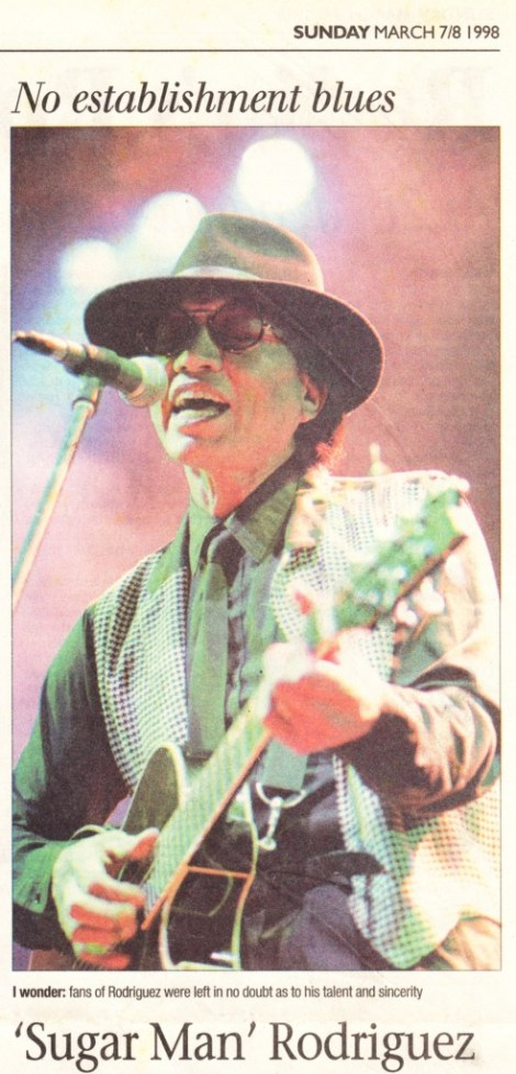 Rodriguez live in Cape Town 1998-03-08 - Sunday Argus